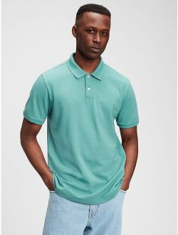 All Day Pique Cotton Relaxed Fit  Polo T-Shirt