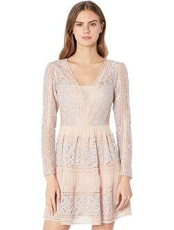 Maxazria Long Sleeve Lace Cocktail Dress