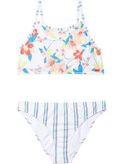 Kids Friendly Flower Crop Top Set Swimsuit (big Kids)