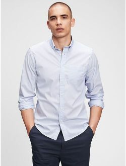Performance Untucked Fit Poplin Button Down Long Sleeve Shirt
