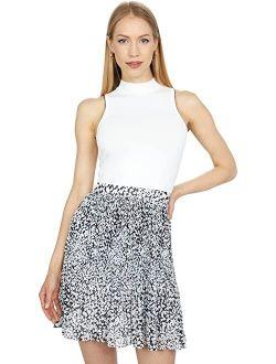 Yondia Pleat & Release Mockable Dress