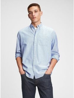 Lived-In Stretch Striped Long Sleeve Button Down Oxford Shirt