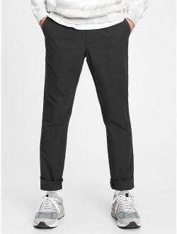 Flex Slim Taper Linen Pull-on Pants With E-waist
