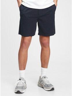 "7"" Easy Seersucker Shorts With E-Waist"