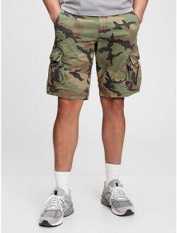 Twill Cargo Shorts With Gapflex