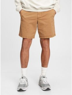"""8"""" Vintage At The Knee Mid Rise Shorts"""