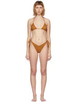 Reina Olga Tan Polyamide And Elastane  Bikini Set