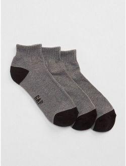 Solid Quarter Socks (3-Pack)