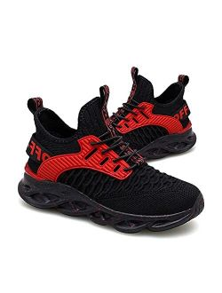 Kids Sneakers Boys Girls Slip-on Tennis Shoes Breathable Knit Athletic Outdoor Sport Running Shoes