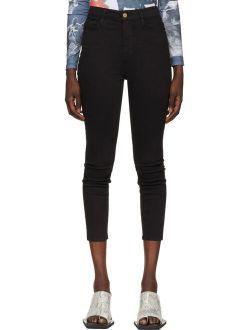 Frame Black High-Rise Ali Cigarette Jeans