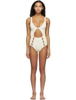 Medina Swimwear Off-White Medusa One-Piece Swimsuit