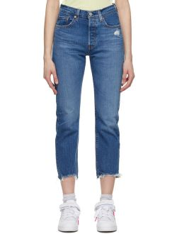 S Levi's Levi's Indigo 501 Cropped Jeans