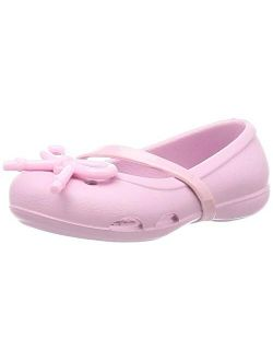 Unisex-child Preschool Lina Bow Charm Flat | Girl's Dress Slip On Shoes Mary Jane