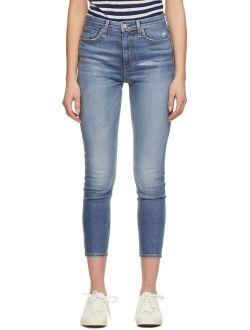 rag & bone Blue Nina Skinny Jeans