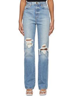 Khaite Blue Ripped 'The Danielle' Jeans