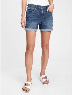 5'' Mid Rise Denim Shorts With Washwell™