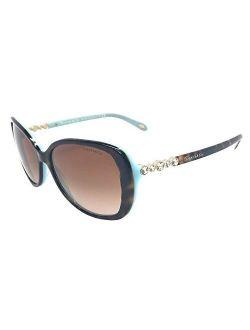 Tiffany & Co. Womens TF4121B 81343B Havana Blue/Brown Gradient Sunglasses