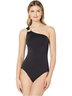 Ael Kors Iconic Solids One Shoulder One-piece