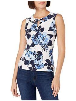 Women's Gromet Sleeveless-knit Top