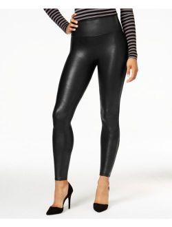 Women's  Faux-leather Tummy Control Leggings