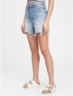 5'' Mid Rise Distressed Boyfriend Shorts With Washwell™