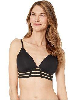 Coastlines Mesh Elastic Molded Cup Bikini Top