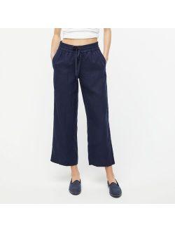 Wide-leg linen pant