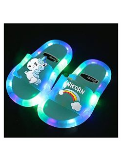 Pengpeng AIYISITELU 2021 Girl Slippers Children LED Kids Slippers Baby Bathroom Sandals Kids Shoes for Girl Boys Light Up Shoes Toddler (Color : A2, Shoe Size : 32(Insole