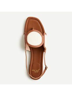 Abbie sandals with geometric canvas strap