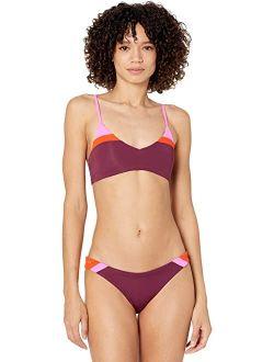 Vintage Grape Rocks Reversible Bikini Top