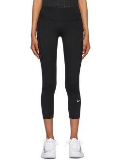 Black Epic Luxe Crop Sport Leggings