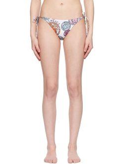Underwear White Medusa Amplified Print Bikini Bottoms