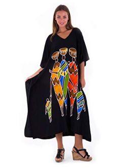 SHU-SHI Womens Long Kaftan Dress Beach Maxi Cover Up Casual Plus Size Dresses Coverup