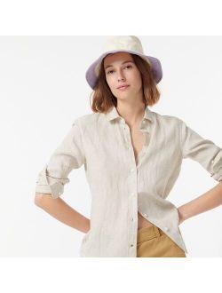 Wide-brim bucket hat in colorblock