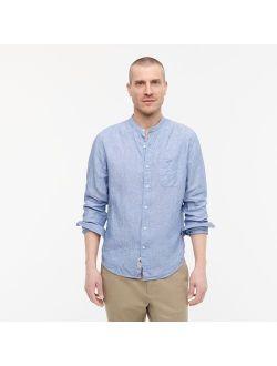 Baird Mcnutt Irish Linen Band-collar Shirt