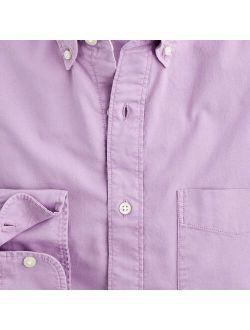 Broken-in Garment-dyed Organic Cotton Oxford Shirt