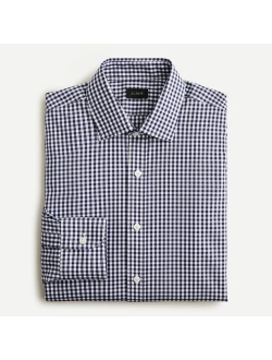 Slim-fit Bowery Wrinkle-free Stretch Cotton Shirt In Gingham