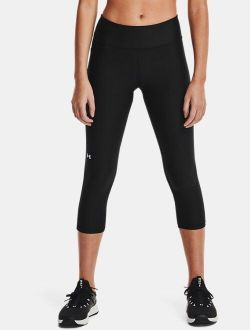 Women's HeatGear® Armour No-Slip Waistband Mid-Rise Capris