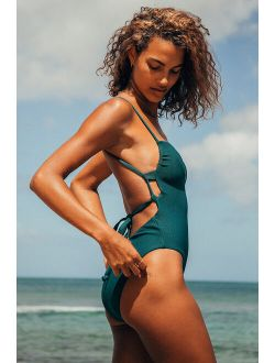 VYB Stella Teal Blue One-Piece Swimsuit