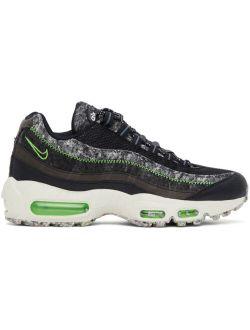 Black & Green Air Max 95 Sneakers