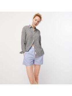 Slim-fit Baird McNutt Irish linen shirt in gingham