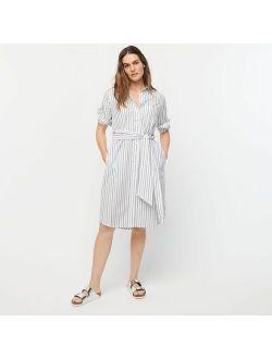 Classic-fit crisp cotton poplin shirtdress