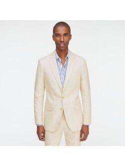 Ludlow Slim-fit stretch cotton-linen jacket