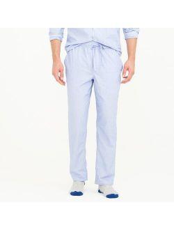 Pajama pant in cotton poplin