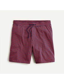 Jersey pajama short in stripe