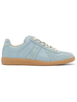 Maison Margiela Blue Replica Lace Up Sneakers