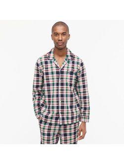 Pajama set in plaid