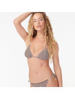 Beaded string bikini top in bold stripe