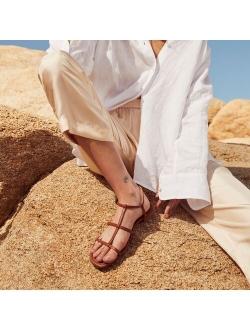 Abbie leather double T-strap sandals