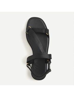 Canvas sporty strap sandals